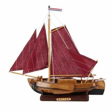 Model miniatuur model hollandse vissersboot 25 cm