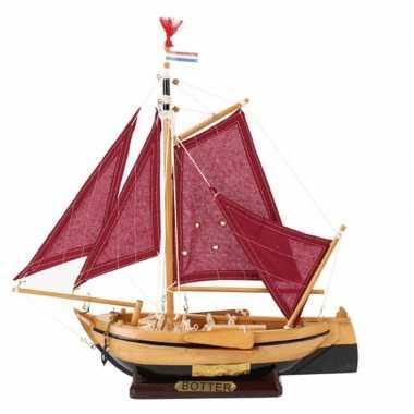 Model miniatuur model hollandse vissersboot 34 cm