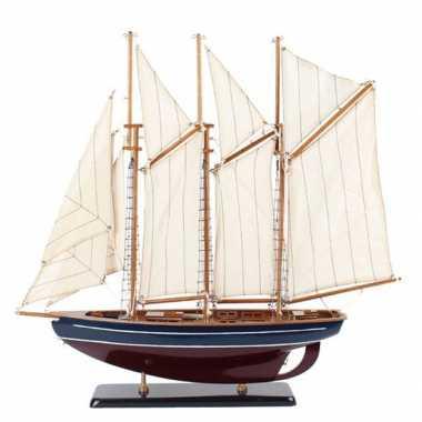 Model miniatuur model zeiljacht/boot marco polo 58 cm