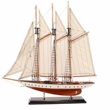Model miniatuur model zeiljacht/boot rochelle 56 cm