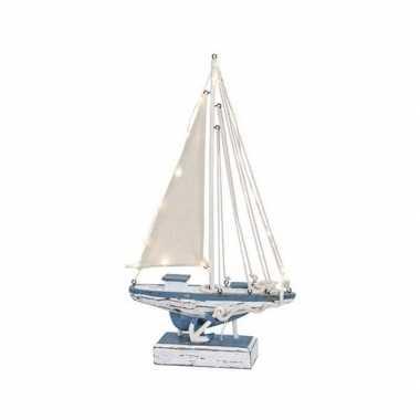 Model zeilboot met led licht 43 cm