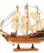 Model miniatuur model zeiljacht boot batavia 24 cm