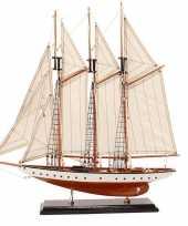 Model miniatuur model zeiljacht boot rochelle 56 cm